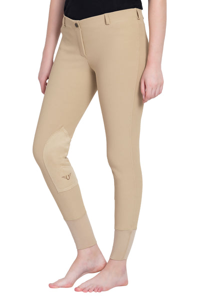 TuffRider Ladies Ribb Lowrise Pull-On Knee Patch Breeches_7