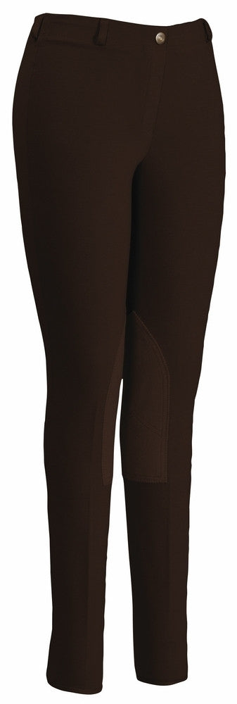 TuffRider Ladies Cotton Lowrise Pull-On Knee Patch Breeches - TuffRider - Breeches.com