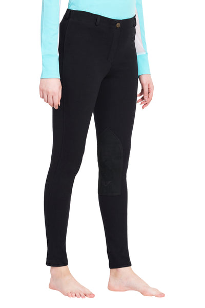 TuffRider Ladies Cotton Pull-On Knee Patch Plus Breeches_3