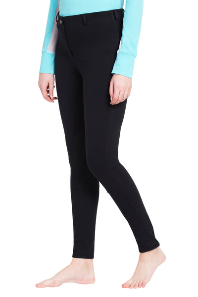 TuffRider Ladies Cotton Pull-On Knee Patch Plus Breeches_1