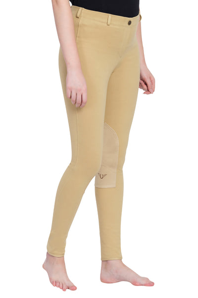 TuffRider Ladies Cotton Pull-On Knee Patch Plus Breeches_7