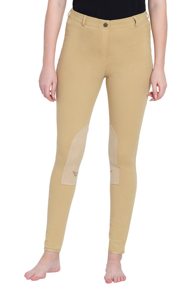 TuffRider Ladies Cotton Pull-On Knee Patch Plus Breeches_6