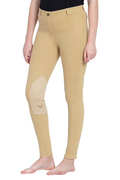 TuffRider Ladies Cotton Pull-On Knee Patch Plus Breeches_5