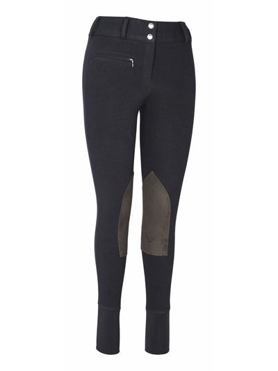 TuffRider Ladies Cotton Lowrise Wide Waistband Breeches (Long) - TuffRider - Breeches.com