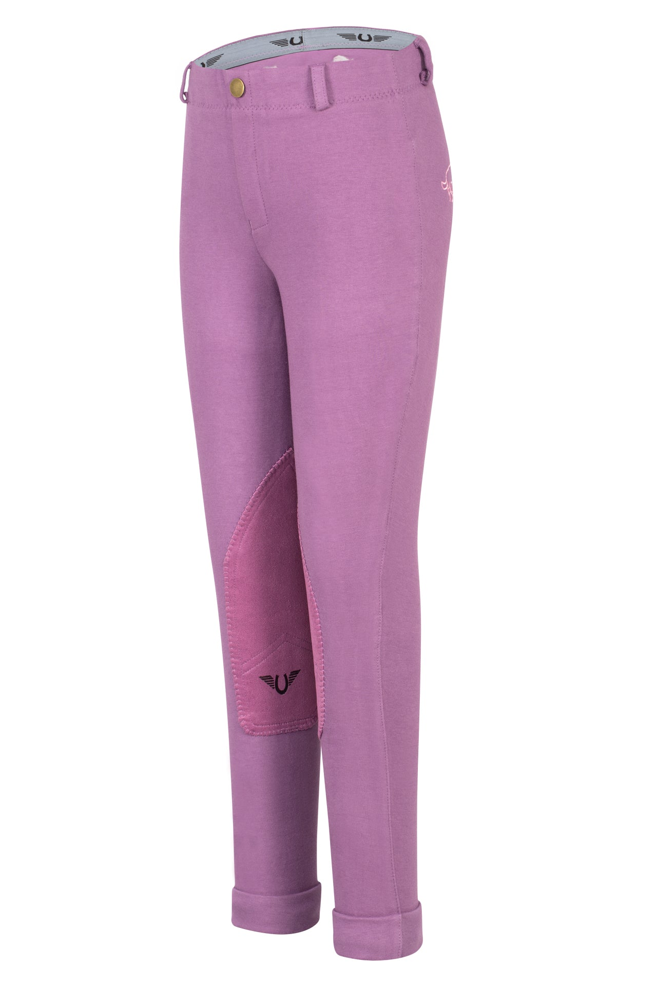 Children's Cotton Embroidered Pull-On Jodhpurs - TuffRider - Breeches.com