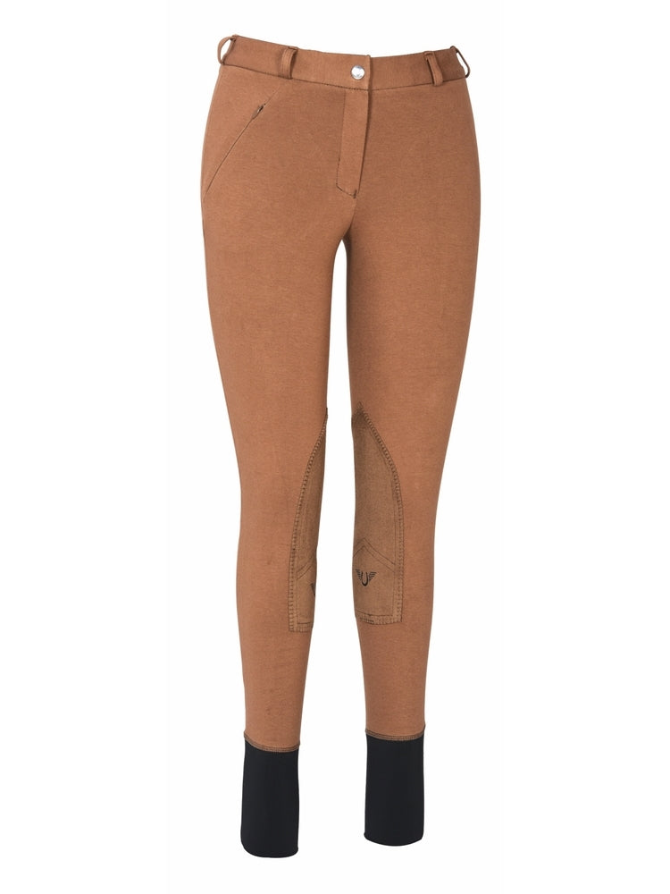 Ladies Light Cotton Lowrise Knee Patch Breeches - TuffRider - Breeches.com