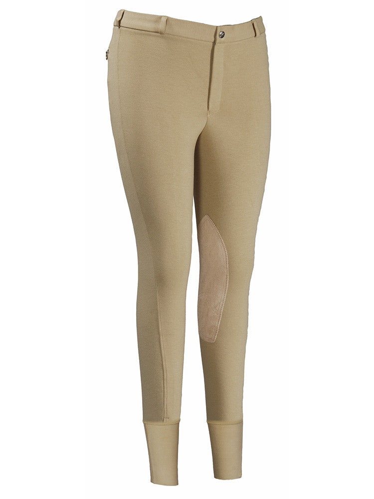 TuffRider Men's Cotton Knee Patch Breeches - Breeches.com