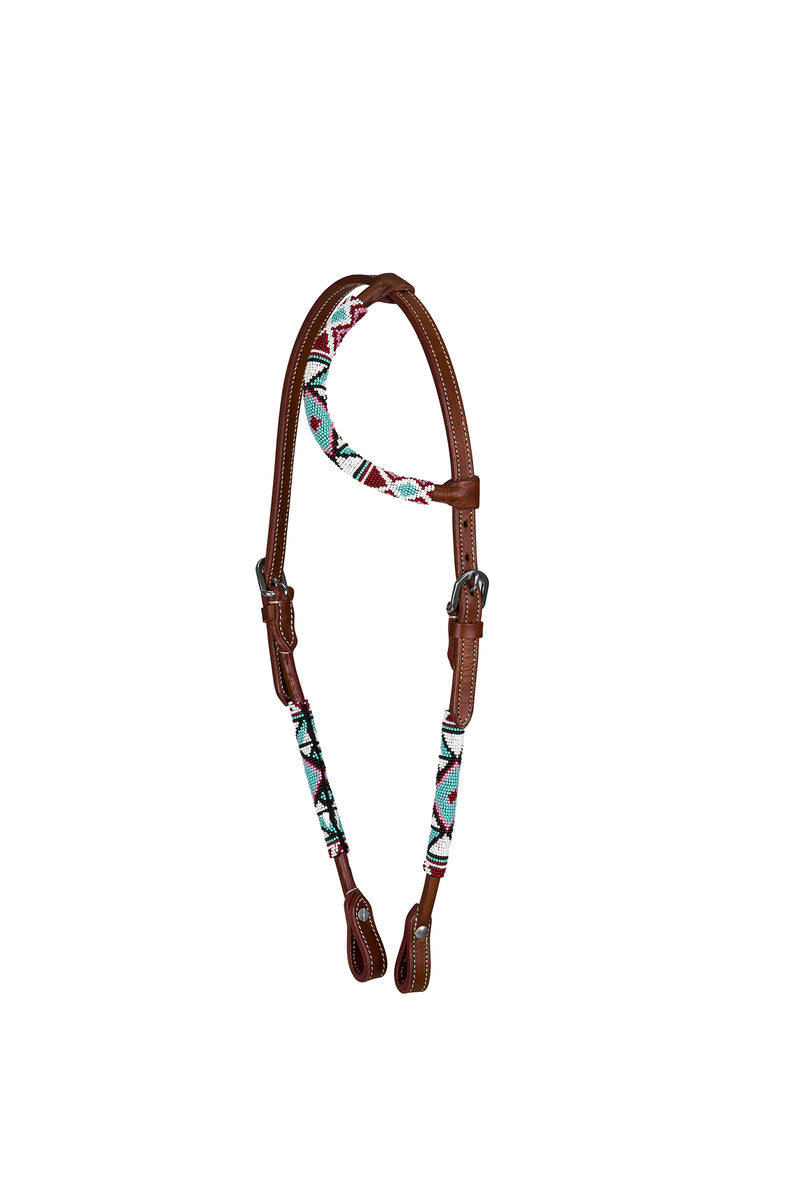 TuffRider Western Beaded One Ear Headstall - Breeches.com