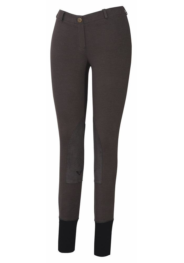 TuffRider Ladies Starter Lowrise Pull-On Knee Patch Breeches - Breeches.com