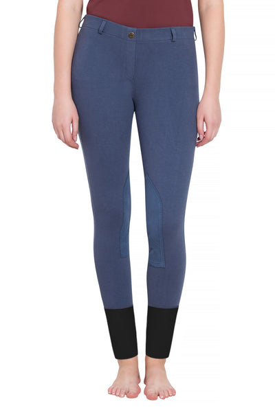 Ladies Starter Lowrise Pull-On Knee Patch Breeches - TuffRider - Breeches.com