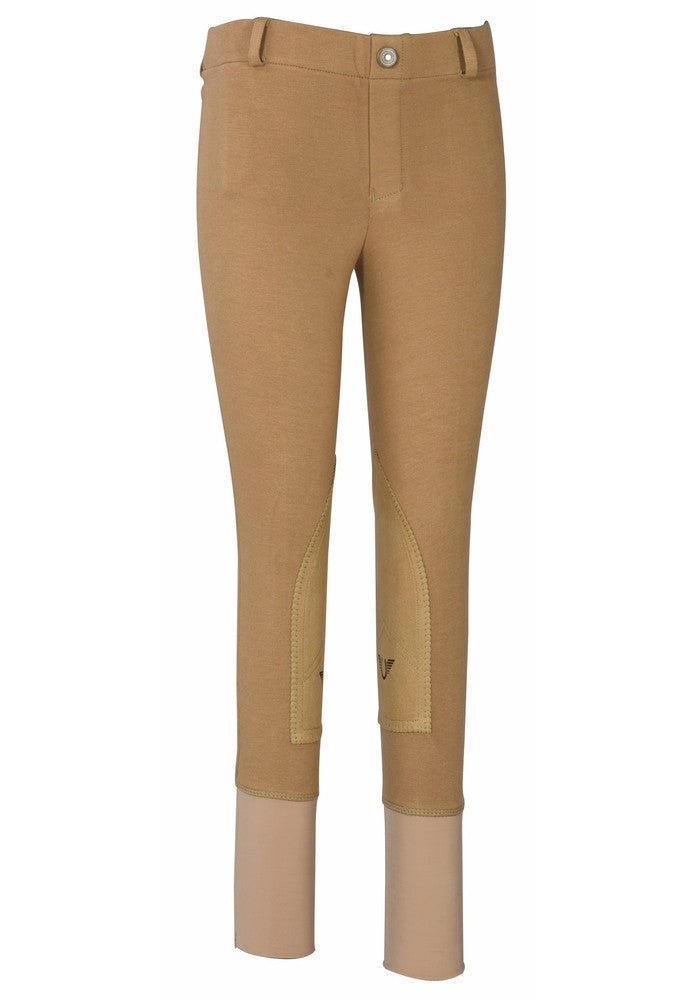 TuffRider Children's Starter Lowrise Pull-On Knee Patch Breeches - Breeches.com