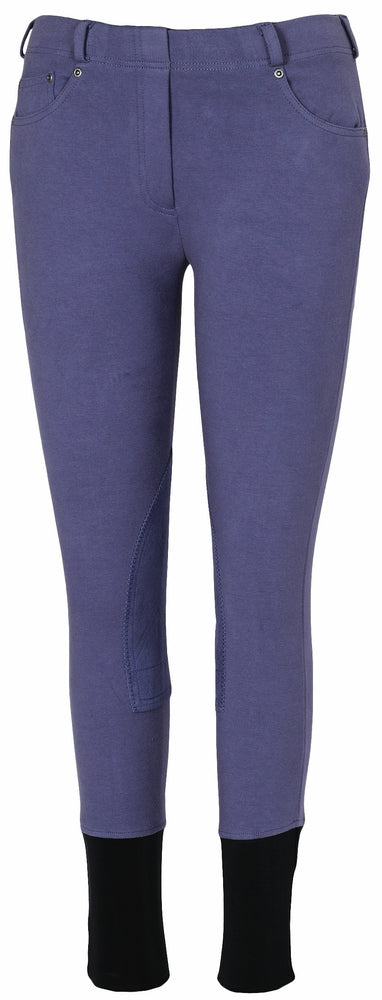 TuffRider Children's Newbury Pull-On Knee Patch Breeches - TuffRider - Breeches.com