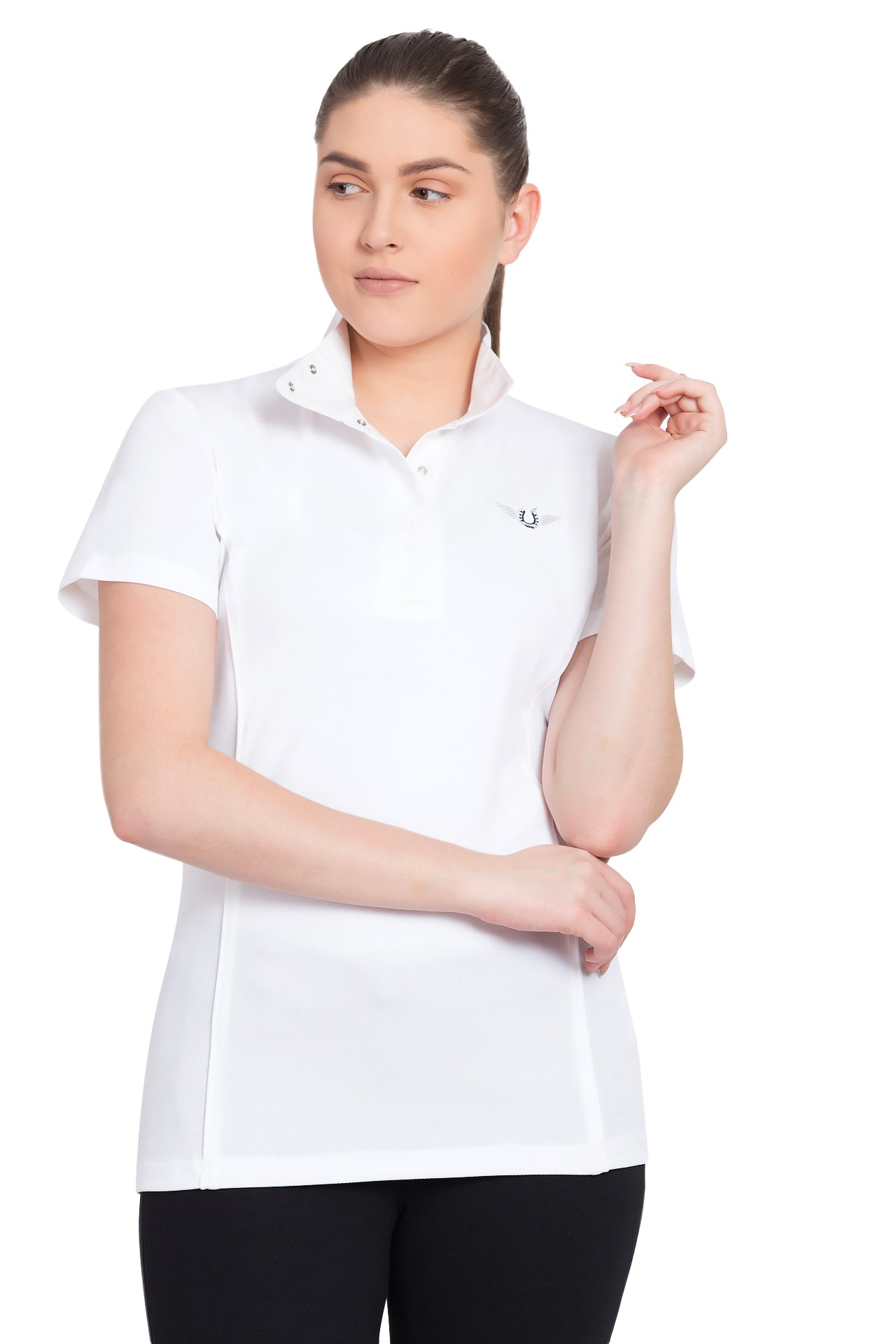 TuffRider Ladies Kirby Kwik Dry Short Sleeve Show Shirt - Breeches.com