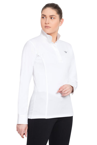 TuffRider Ladies Kirby Kwik Dry Long Sleeve Show Shirt_3