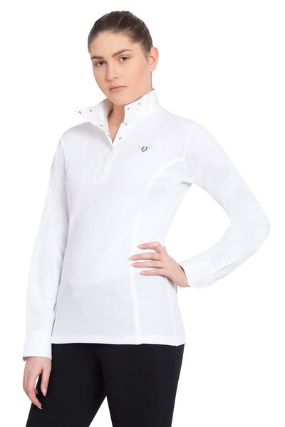 TuffRider Ladies Kirby Kwik Dry Long Sleeve Show Shirt_2