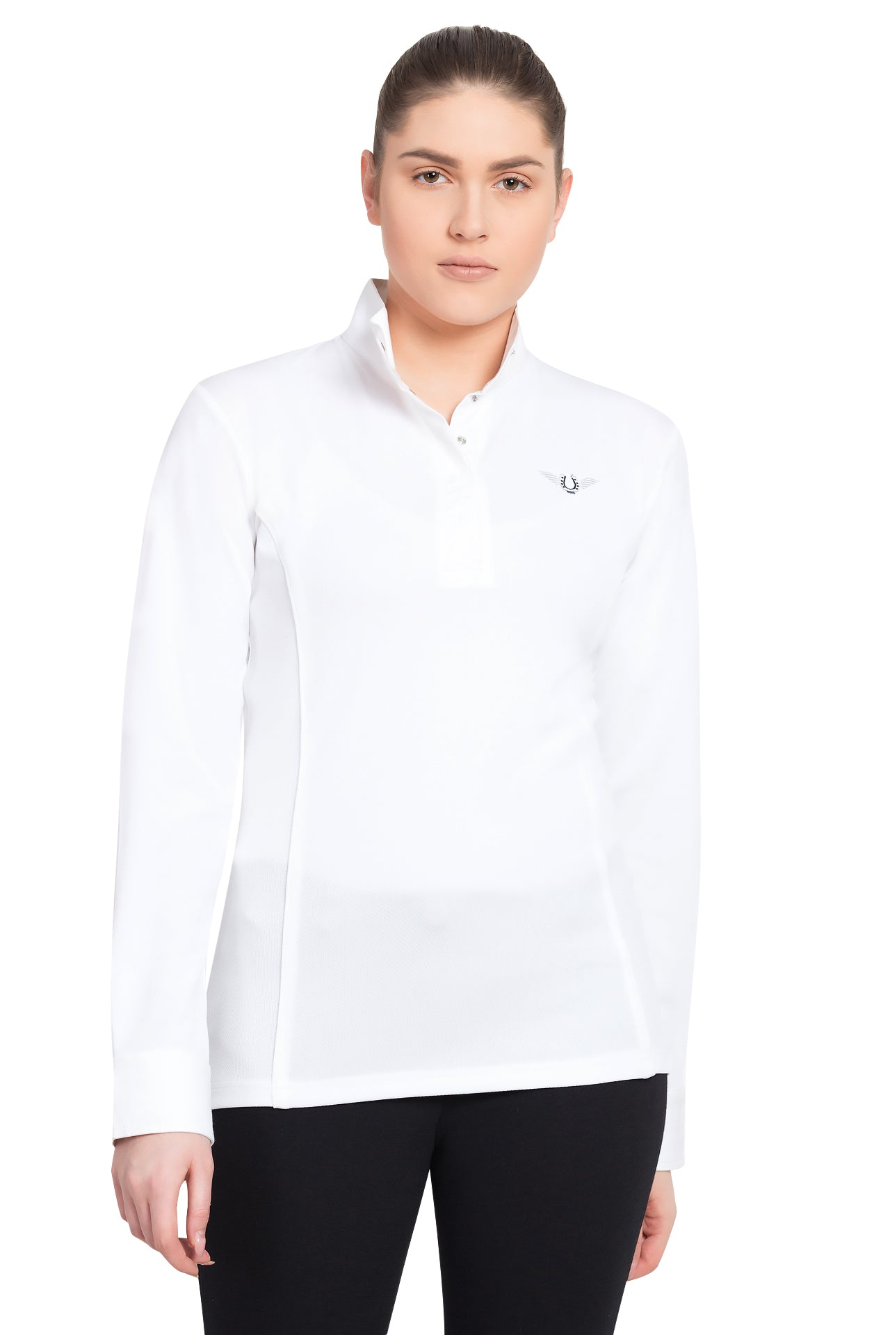 TuffRider Ladies Kirby Kwik Dry Long Sleeve Show Shirt_1