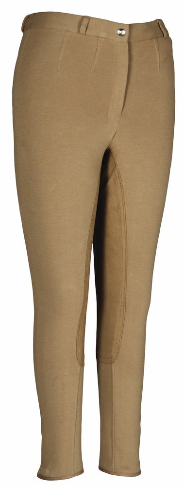 Ladies Cotton FigureFit Full Seat Breeches (Long) - TuffRider - Breeches.com
