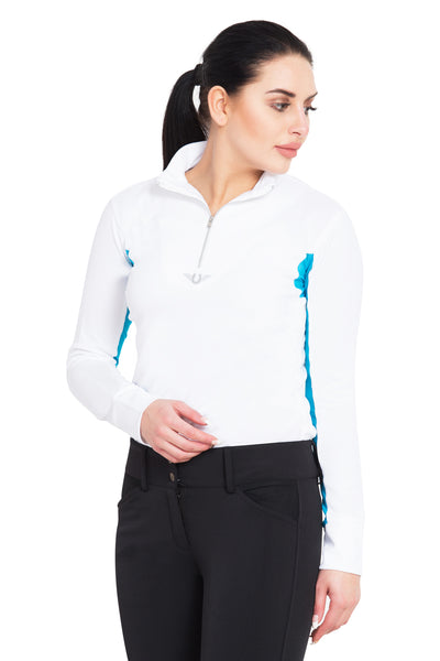 TuffRider Ladies Ventilated Technical Long Sleeve Sport Shirt_48