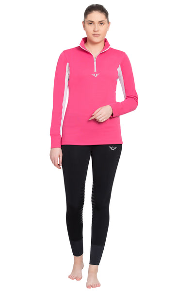 TuffRider Ladies Ventilated Technical Long Sleeve Sport Shirt_74