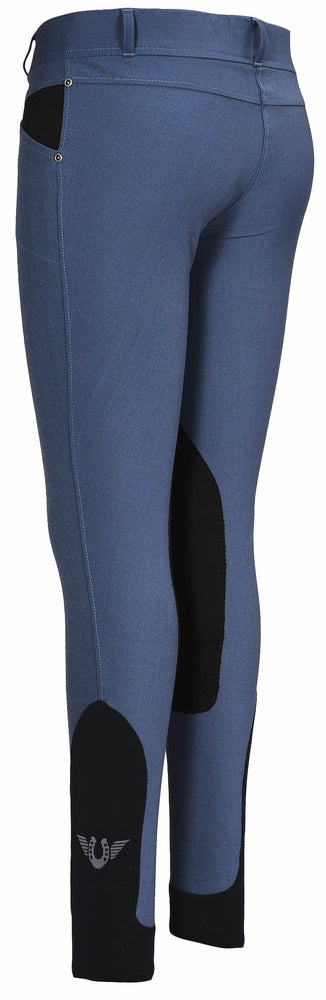 TuffRider Ladies Sydney Knee Patch Breeches w/ Contoured sock bottom (CSB)_2