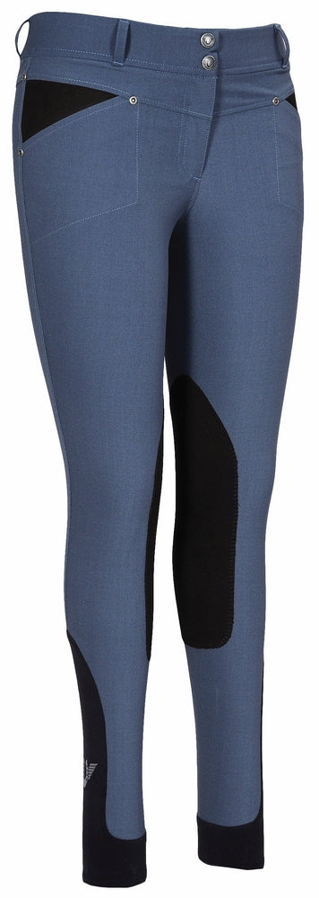 Ladies Sydney Knee Patch Breeches w/ Contoured sock bottom (CSB) - TuffRider - Breeches.com