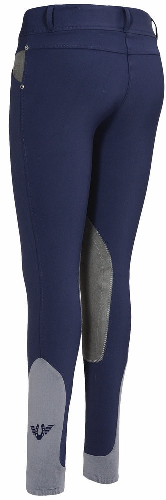 TuffRider Ladies Sydney Knee Patch Breeches w/ Contoured sock bottom (CSB)_4