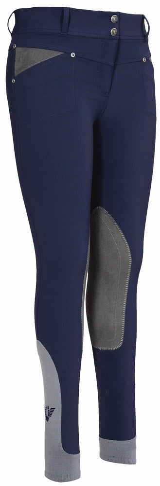 TuffRider Ladies Sydney Knee Patch Breeches w/ Contoured sock bottom (CSB)_3