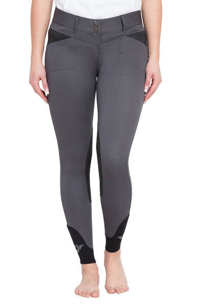 TuffRider Ladies Sydney Knee Patch Breeches w/ Contoured sock bottom (CSB)_11