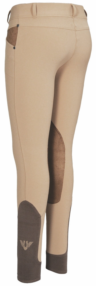 TuffRider Ladies Sydney Knee Patch Breeches w/ Contoured sock bottom (CSB)_17