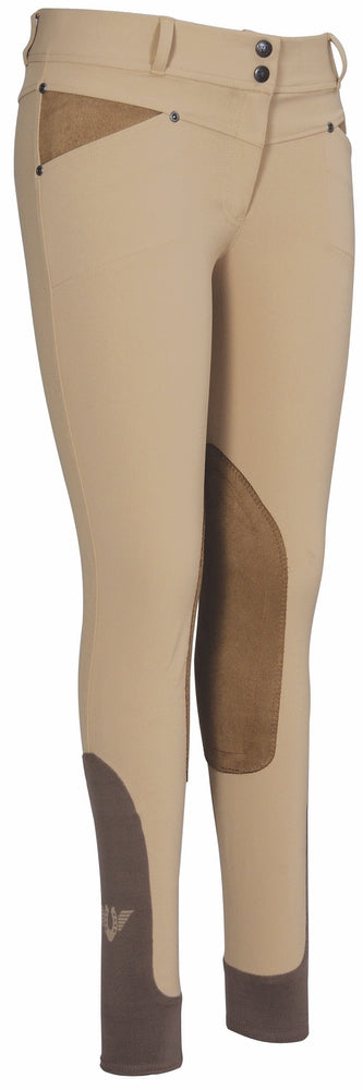 TuffRider Ladies Sydney Knee Patch Breeches w/ Contoured sock bottom (CSB)_16