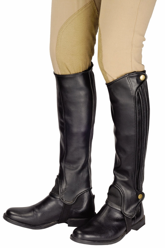 TuffRider Adult Grippy Grain Half Chaps Tall - TuffRider - Breeches.com