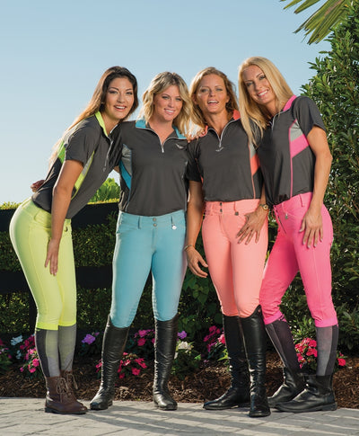 TuffRider Ladies Neon Knee Patch Breeches_3