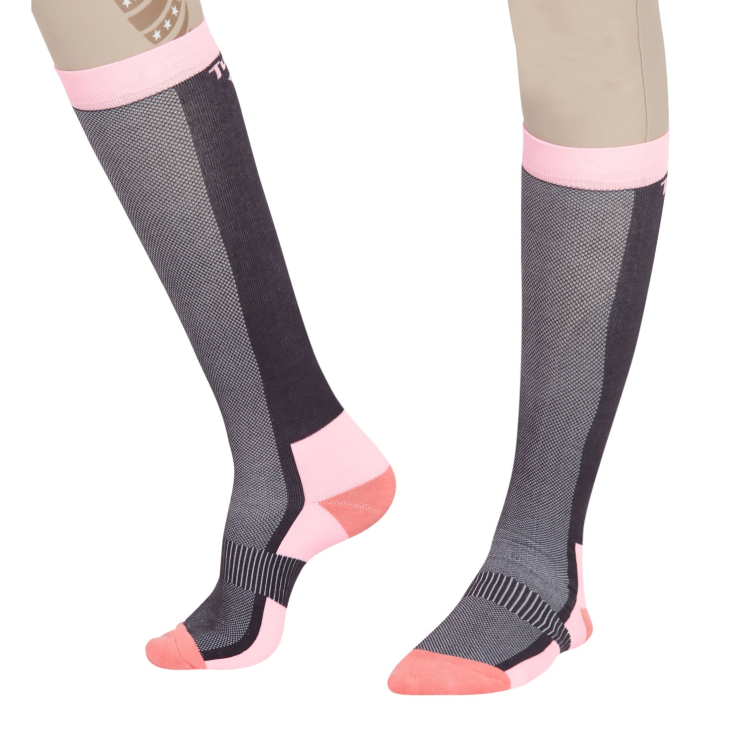 TuffRider Ladies Ventilated Knee Hi Socks - Breeches.com