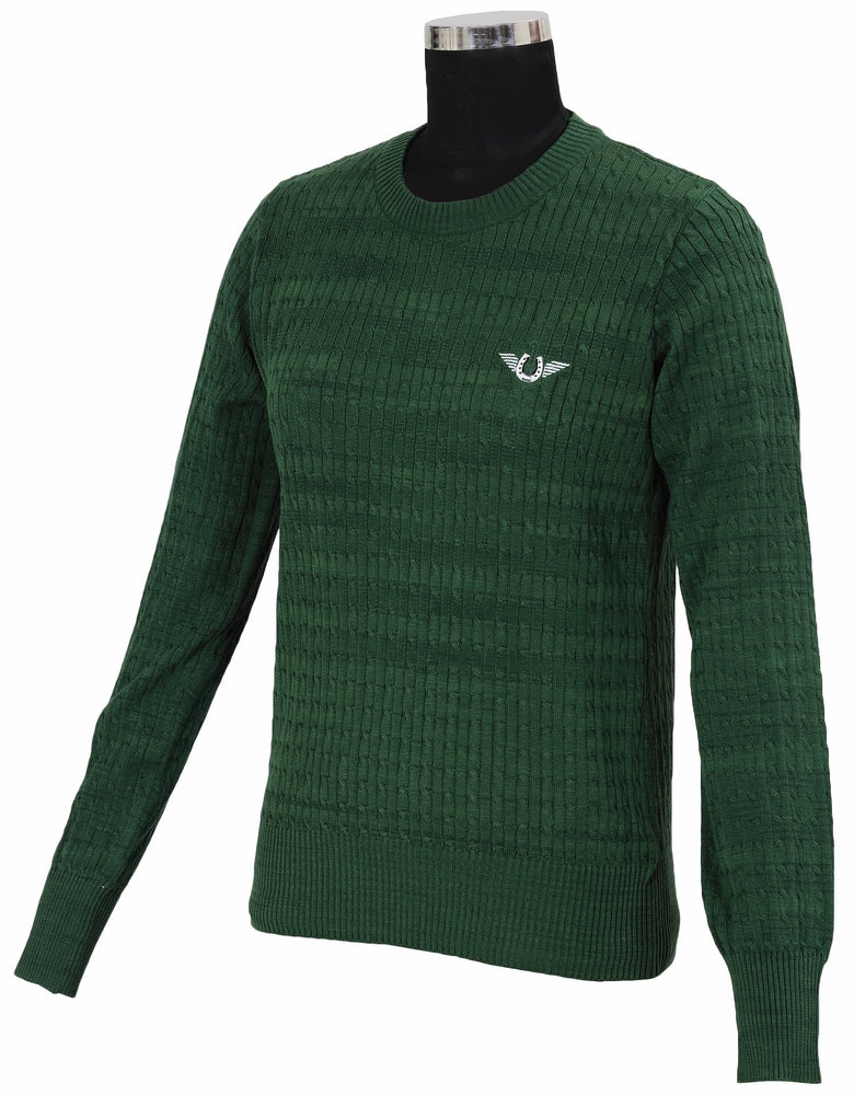 TuffRider Ladies Classic Cable Knit Sweater_1