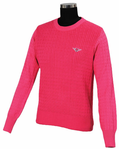 TuffRider Ladies Classic Cable Knit Sweater_4