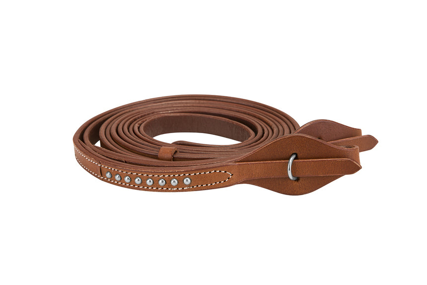 TuffRider Western Split Reins With Silver Dots - Breeches.com