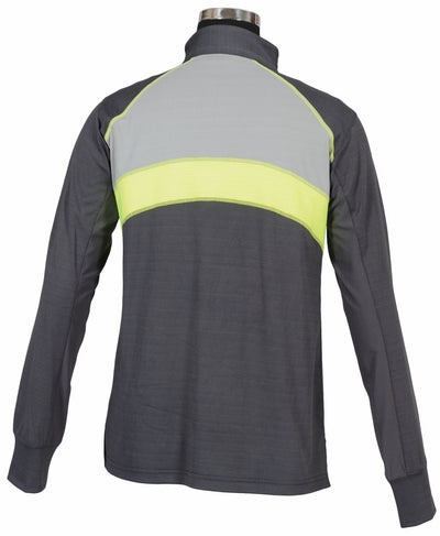 Children's Neon Ventilated Mock Zip Long Sleeve Polo - TuffRider - Breeches.com