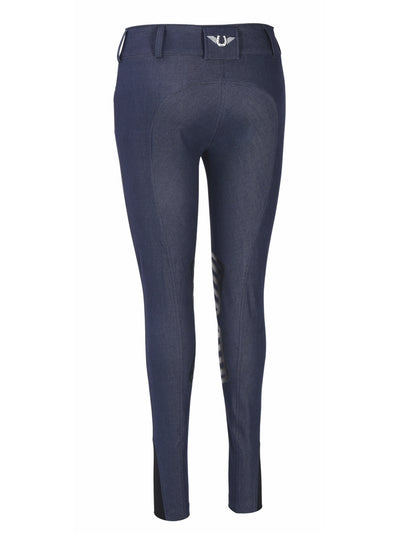 TuffRider Ladies Sierra Denim Knee Patch Breeches - Breeches.com