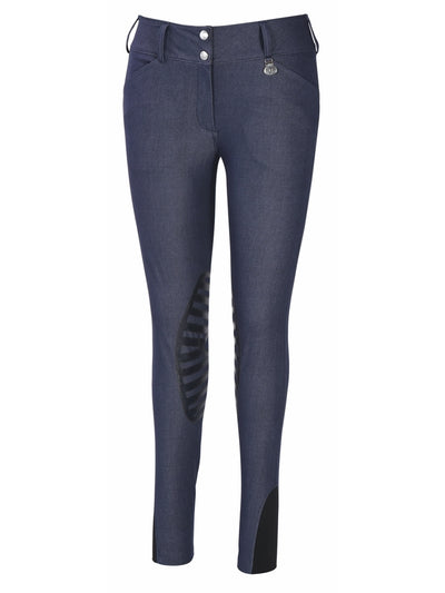 TuffRider Ladies Sierra Denim Knee Patch Breeches - TuffRider - Breeches.com