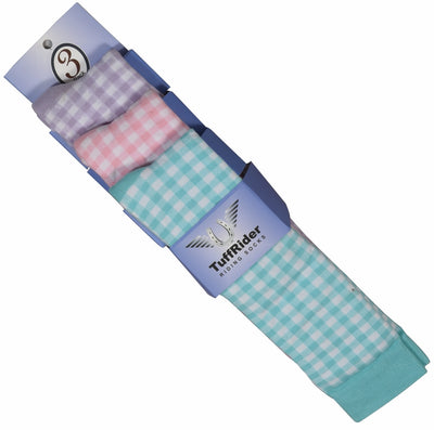 Gingham Check 3 Pack Socks - TuffRider - Breeches.com