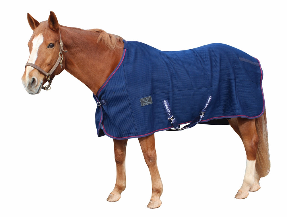 TuffRider Thermo Manager Stable Sheet with Contrast Piping - TuffRider - Breeches.com