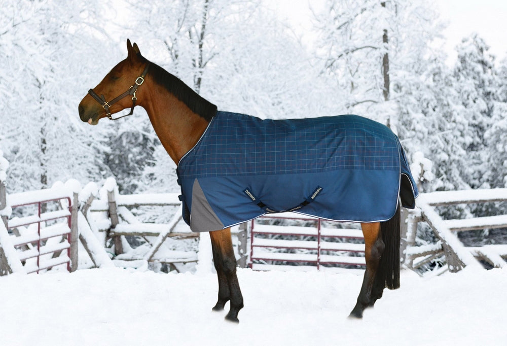 TuffRider Optimum 1200D Ripstop Top w/ 1680D Triple Weave Bottom 220gms Medium Weight Turnout Blanket with Standard Neck_1