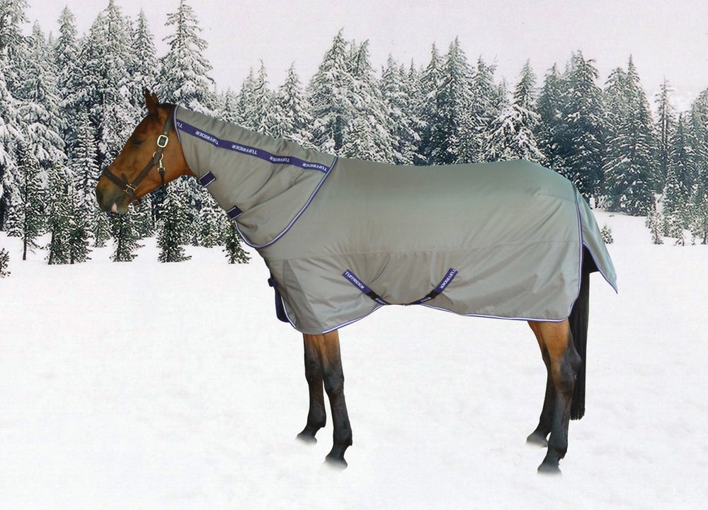TuffRider Major Ballistic 1200D 360gms Heavy Weight Turnout Blanket with Detachable Neck - TuffRider - Breeches.com