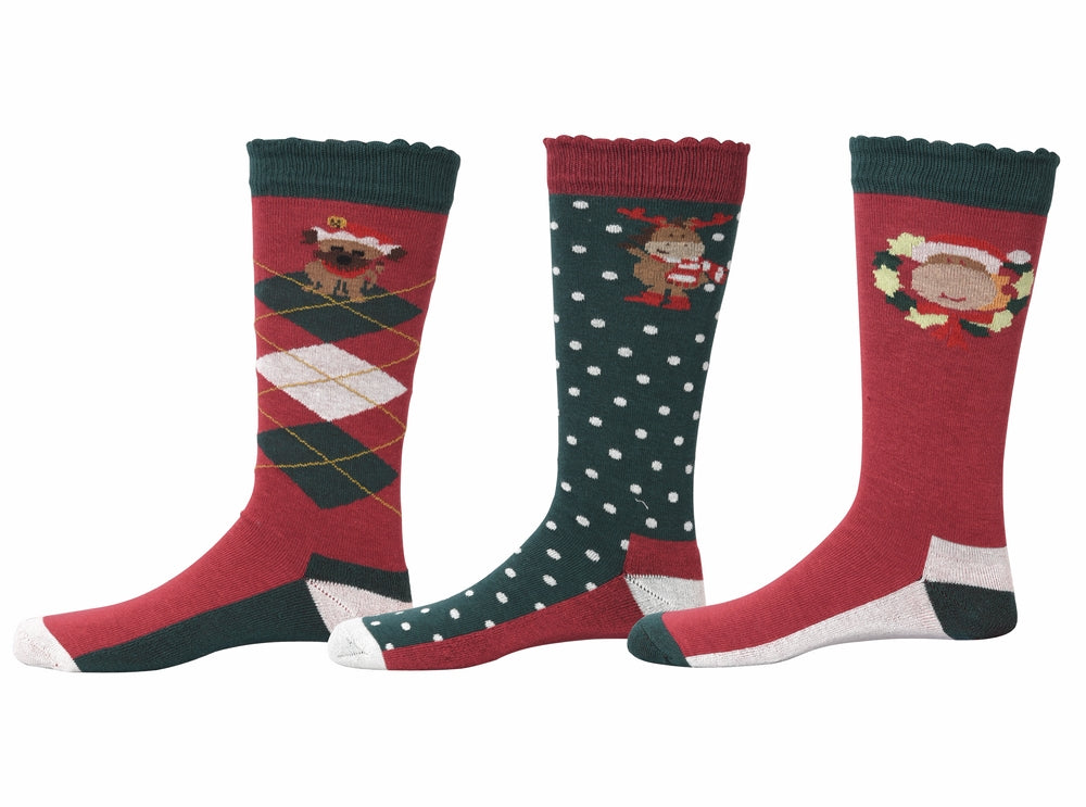 TuffRider Holly Kids Socks - 3 Pack - Breeches.com