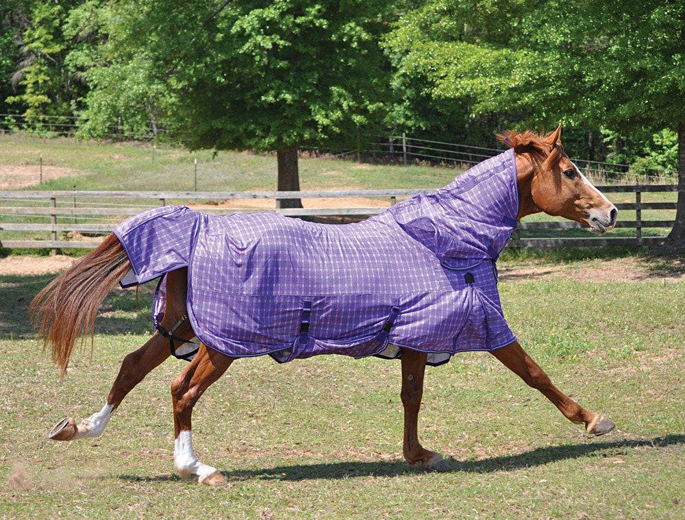 TuffRider Power Mesh Detachable Neck Fly Plaid Sheet - Breeches.com