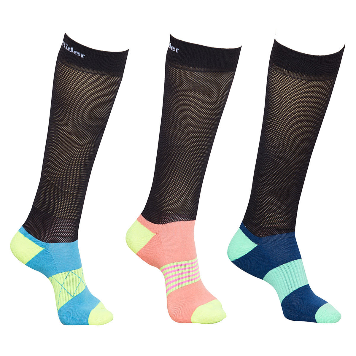 TuffRider EquiCool Ventilated Riding Socks-3 pack - Breeches.com