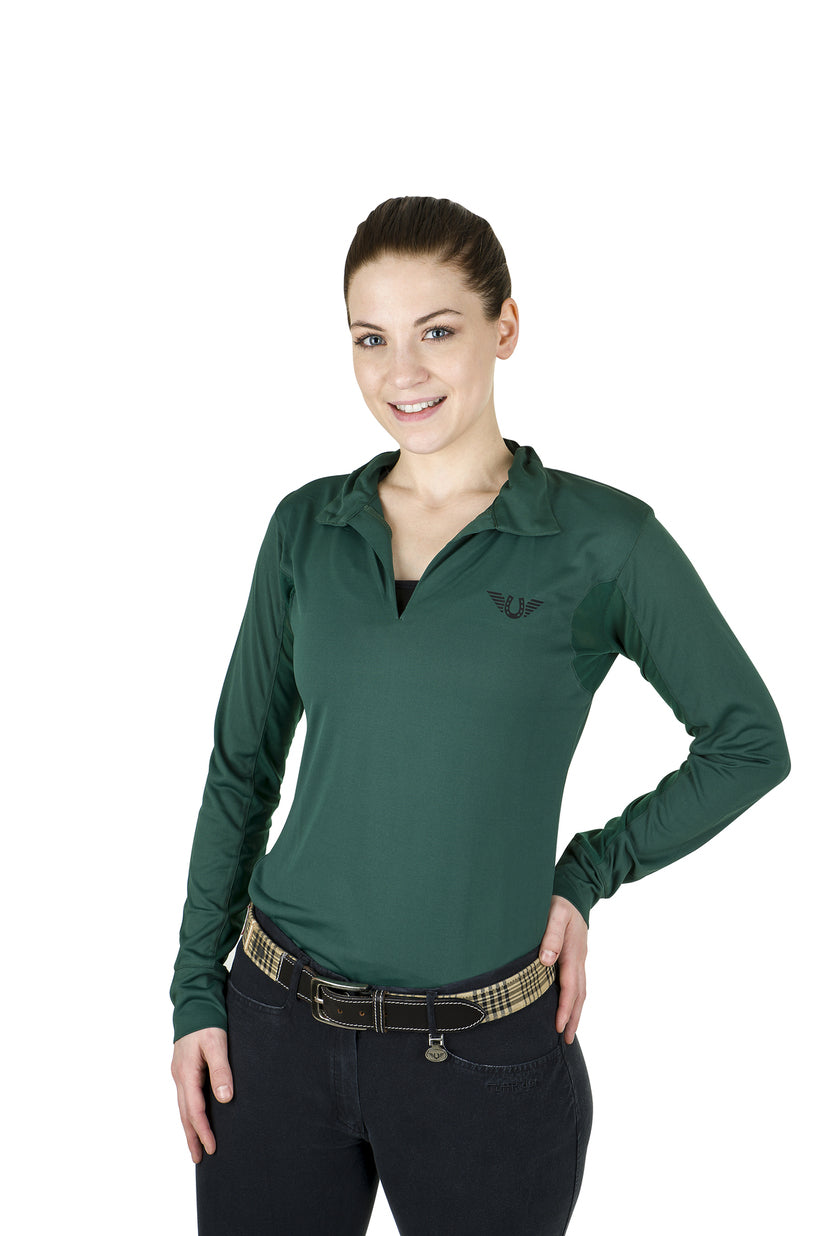 Tuffrider Ladies Taylor Long Sleeve Polo - TuffRider - Breeches.com