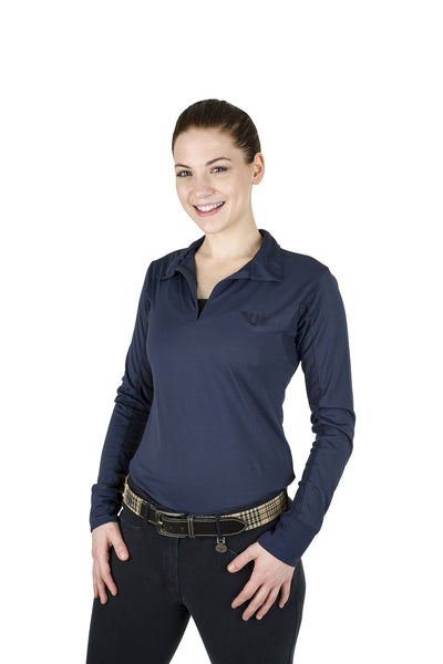 Tuffrider Ladies Taylor Long Sleeve Polo - Breeches.com