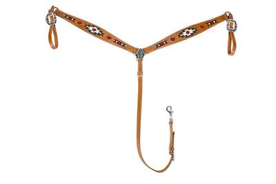 TuffRider Western Beaded Inlay Breast Collar - Breeches.com