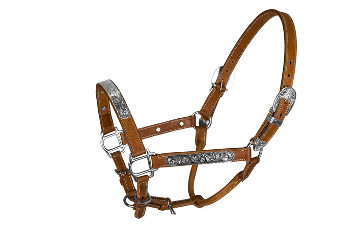 TuffRider Western Deluxe Show Halter With Silver Bar - Breeches.com